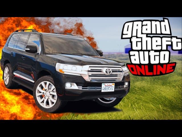 GTA 5 Моды: TOYOTA LAND CRUISER 200 2016г (КРУЗАК НА СВОБОДЕ)- Настоящие Машины!