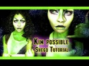 Kim possible Shego live action makeup tutorial cosplay face paint