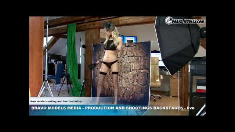 Bravo Models Media - Prague - photo shoots backstages - porn model FLORANE RUSSEL - 02