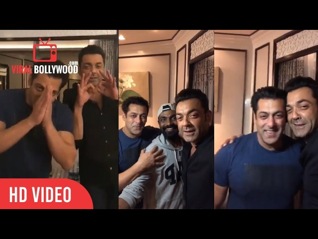 Salman Khan LIVE with Bobby Deol Remo D Souza | Talks About Race 3