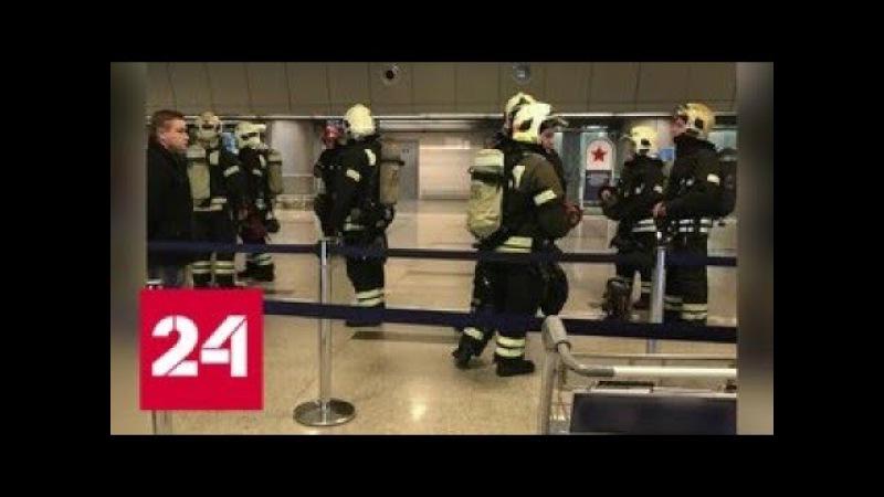 В аэропорту Внуково загорелся электрокабель - Россия 24