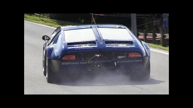 De Tomaso Mangusta Accelerations, Fly Bys Sounds on Hillclimb!