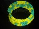 Браслет из квадратного жгута DIY Beaded bracelet Harness square