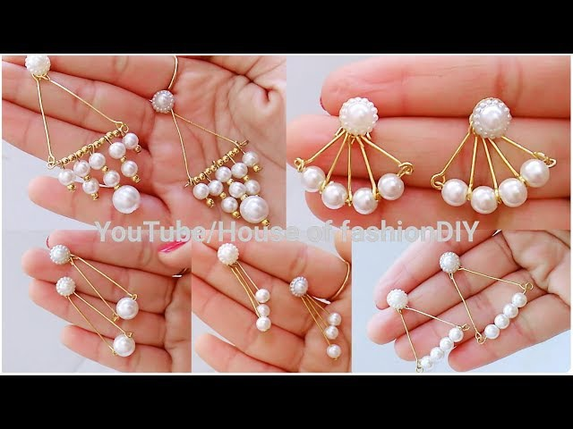 How To Make Pearl Earrings for Office/Collage Going girls||Pearl Earrings At Home