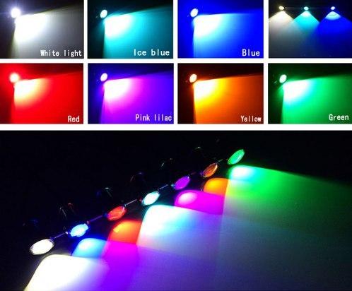 Светодиодные водонепроницаемые огни 7 вариантов цвета
