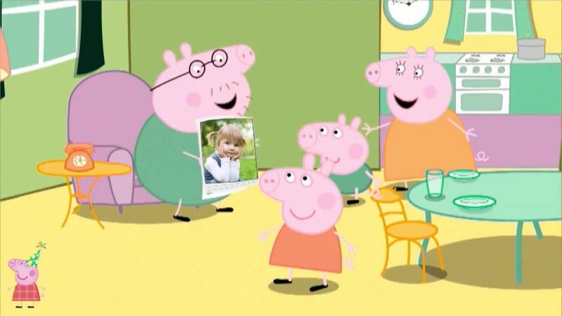 Пример-Мульт-поздравление С Днем Рождения от Свинки Пеппы
