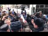 Задержание обманутых пайщиков Совхоза им. Ленина в Москве 17 февраля 2018