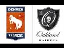 NFL 2017-2018 / Week 12 / 26.11.2017 / Denver Broncos @ Oakland Raiders
