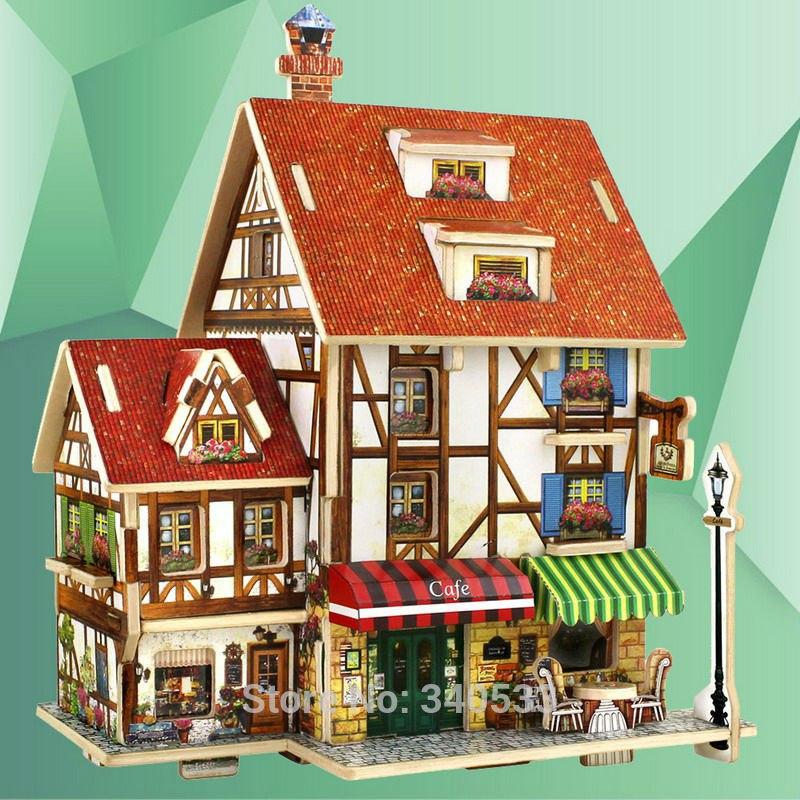 3D домик - построй сам