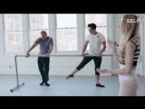 ) Кроссфит атлеты на занятии с профессиональной балериной