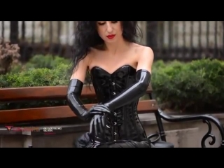 Preview of Set PVC corset and Latex Gloves for Calmara