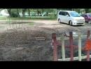 Разрушенная парковка на 50 лет ВЛКСМ