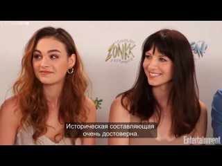 EW Interview with the cast of Outlander SDCC17 RUS SUB
