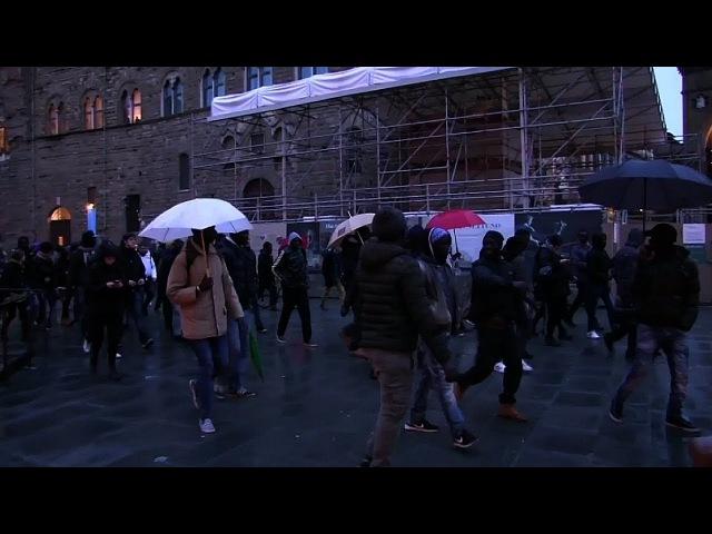 У Фларэнцыі мігранты пратэставалі супраць забойства афрыканскага гандляра | Протесты во Флорернции Белсат