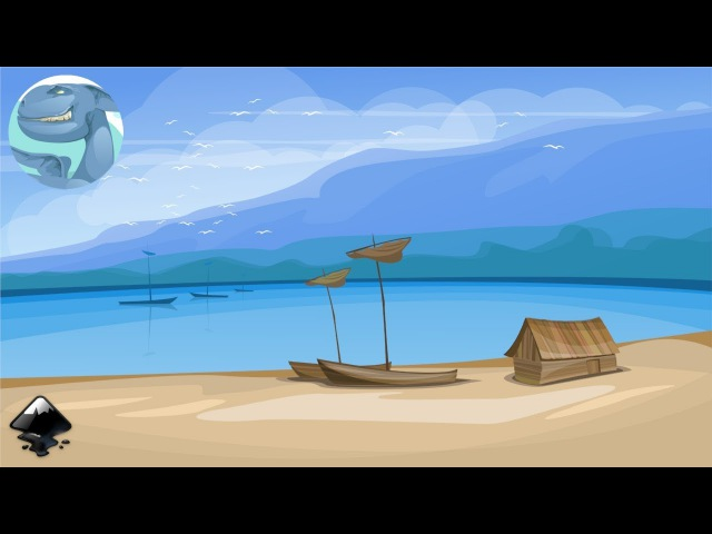 How to draw a landscape with a fishing lodge in Inkscape