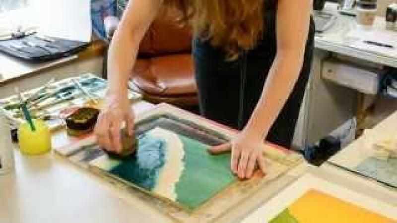 Linnane Armstrong Demonstrates Moku Hanga Printmaking