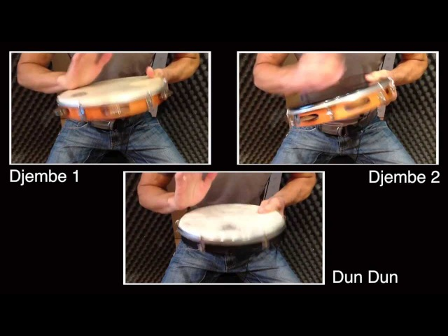 African Rhythms For Pandeiro Example 1: Jaa