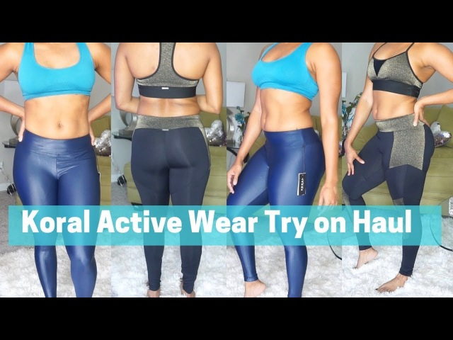 KORAL ACTIVE WEAR TRY ON HUAL/REVIEW   FOR CURVY GIRLS   DejaFitBeauty