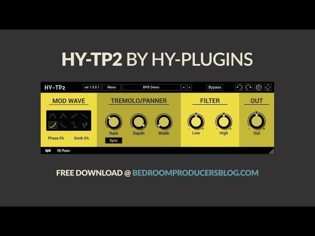 HY-TP2 by HY-Plugins (FREE tremolo VST/AU plugin)