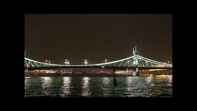Ночной Будапешт прогулка по Дунаю на корабле Budapest at night Hungary boat trip on the Danube