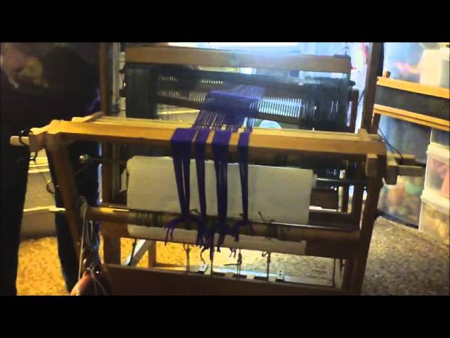 Front to Back Warp Beaming with a Tension Device On a Floor Loom