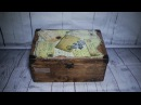 60 DECOUPAGE TRAVEL BOX DECOUPAGE SKRZYNKA PODRÓŻNIKA TUTORIAL DIY PAPIER DECOUPAGE