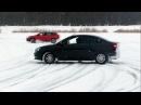 Кто победил в гонках на ледяном озере LADA Vesta SW Cross vs Vesta sedan