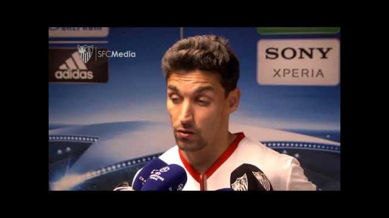 """NAVAS: """"Insistimos más y merecimos mejor resultado. 21/02/18. Sevilla FC"""