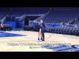 View from GSW practice (1of2), day before Orlando Magic Steph Curry, Kevin Durant