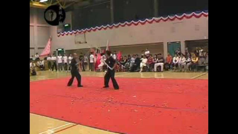 Hung Gar Opposing Pole Demonstration