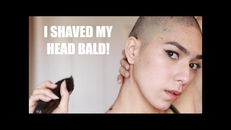 I shaved my head bald!