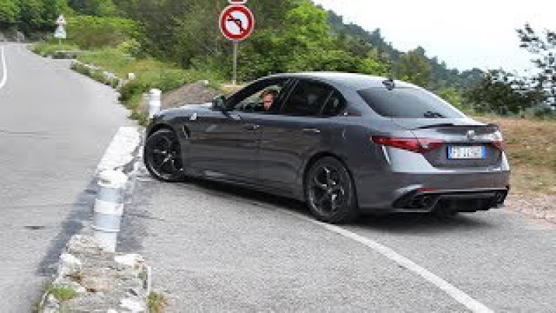 Alfa Romeo Giulia QV Quadrifoglio - Accelerations Powerslide ( Marchettino)!