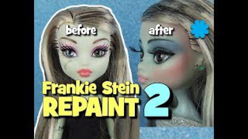 Monster High Frankie Stein Doll Repaint No2