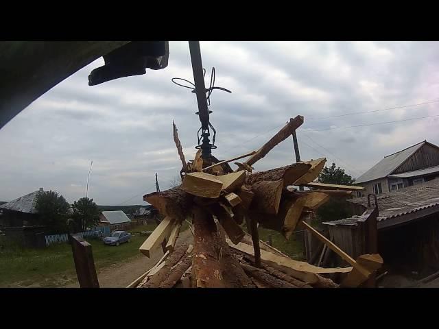 Разгрузка ГОРБЫЛЯ от первого лица, во двор. Атлант С-90. Action