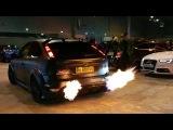 Manchester Car Show Large FLAMES, Loud Revs + Antilag Launch Control