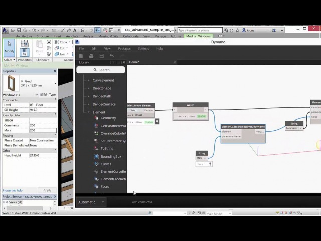 Get and Set Revit Parameters with Dynamo