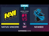 NaVi vs NewBee RU #1 (bo3) ESL One Katowice 2018 Major Group B 21.02.2018
