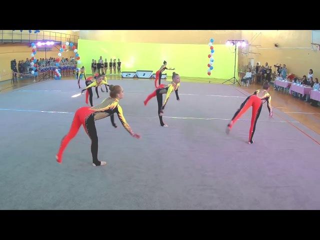 Эстетическая гимнастика Виктория-Стрела показательное выступление на турнире в г. Алушта 2017