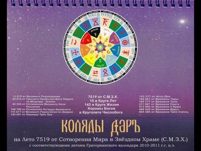 О возрождении ведического летоисчисления Н. Левашов