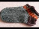 Вязаные носочки на двух спицах