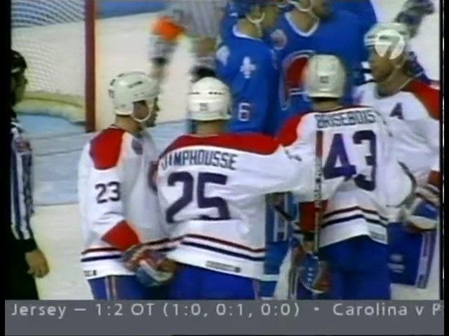1/8 Финала Кубка Стэнли 1993. Монреаль Канадиенс - Квебек Нордикс. Матч 3
