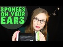 Konjac and Makeup SPONGES 💛 Ear Massage, Nitrile Gloves, Minimal Soft Speaking 💛 Binaural HD ASMR