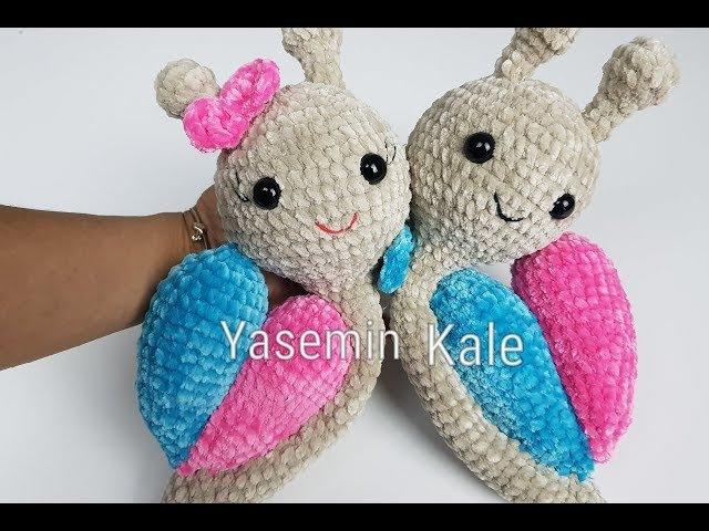 Sevgililer gününe özelörgü oyuncak salyangoz yapılışı beden