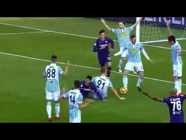 Giovanni Simeone penalty not given - Spal 0-0 Fiorentina 19.11.2017 - vidéo Dailymotion