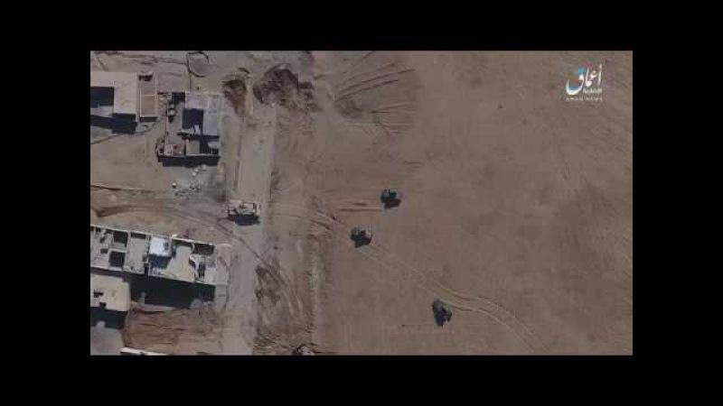 Детонация боеприпасов в Хаммере после сброса СВУ с дрона