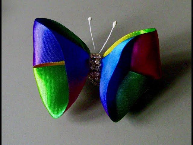 DIY - Borboleta de fita matizada - ribbon butterfly