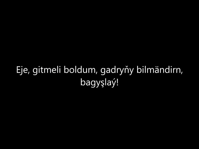 Syke dali -Yylgyray eje (Turkmen rap)