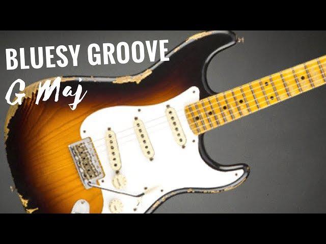Bluesy Groove Guitar Backing Track Jam in G