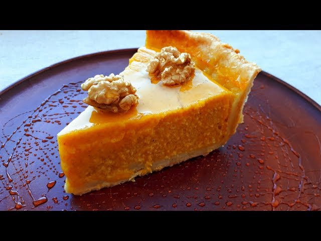 Пирог с тыквой, медом и орехами. Вкусный, нежный, ароматный тыквенный пирог. Рецепты из Тыквы.
