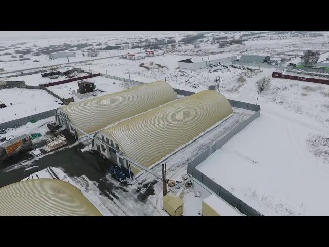 РИЗУР СТРОЙ Строительство бескаркасных ангаров.